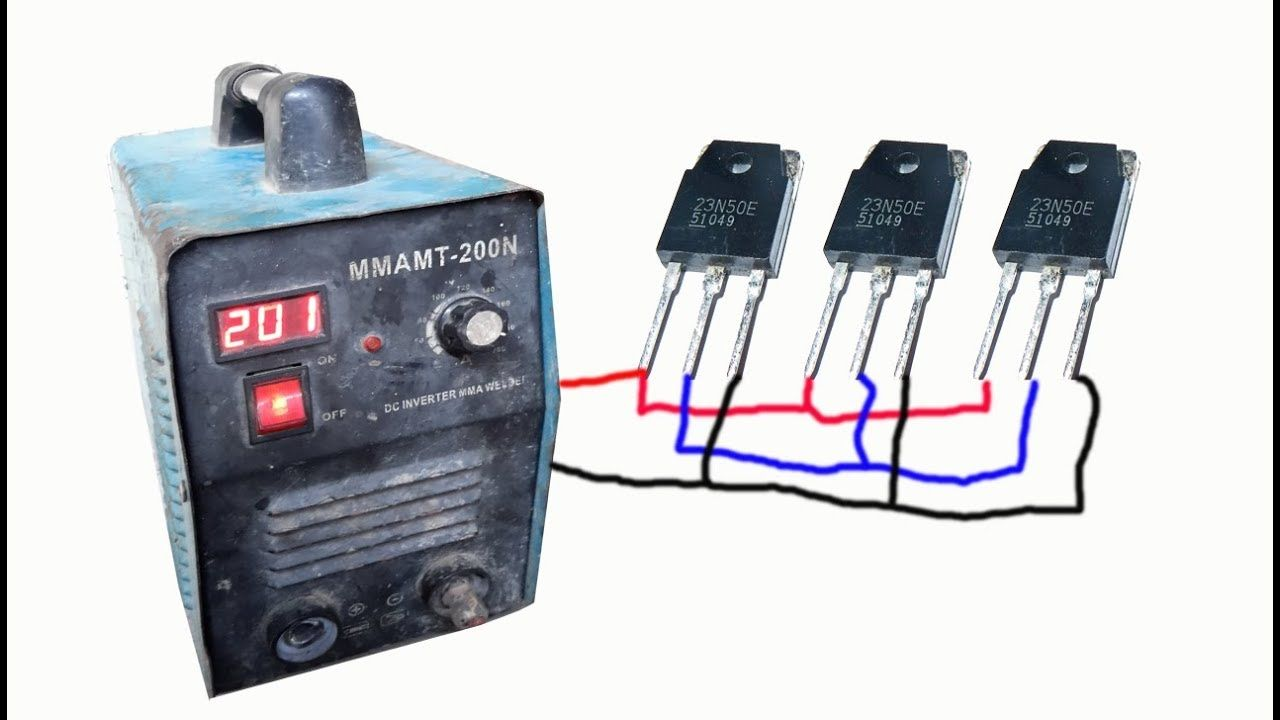 How To Repair Inverter Welding Mmamt 200a With 23n50 Mosfet In 2020 Welding Arc Welding Machine Inverter Welding Machine