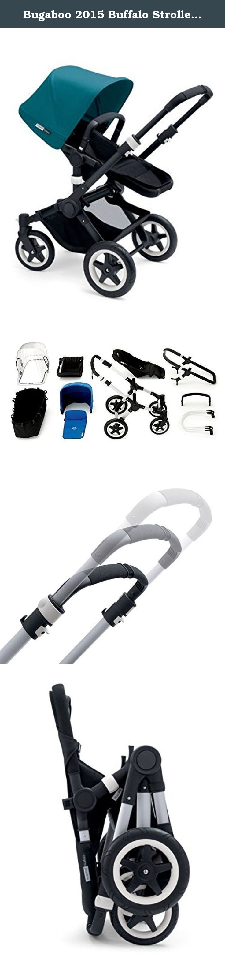 Bugaboo 2015 Buffalo Stroller Complete Set in Black on