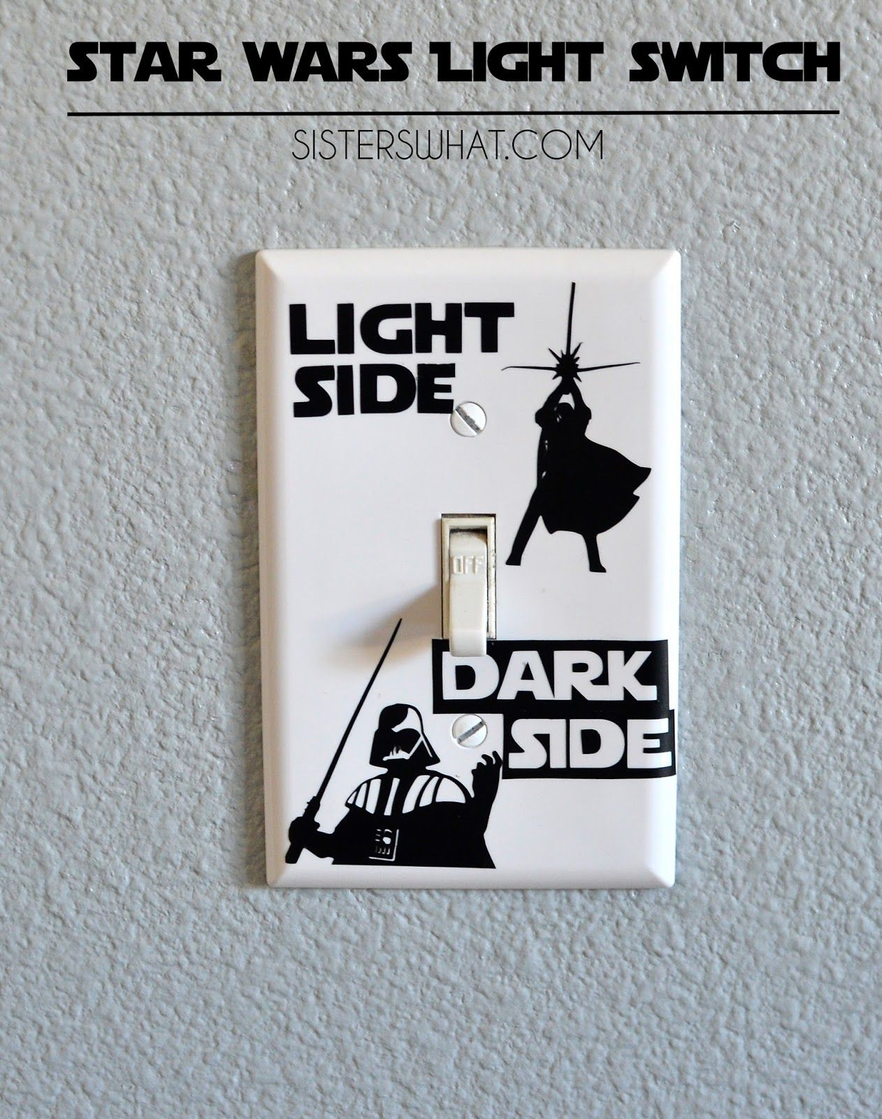 Vinilos Decorativos Star Wars Star Wars Light Switch Silhouette Challenge Sublimacion Vinil