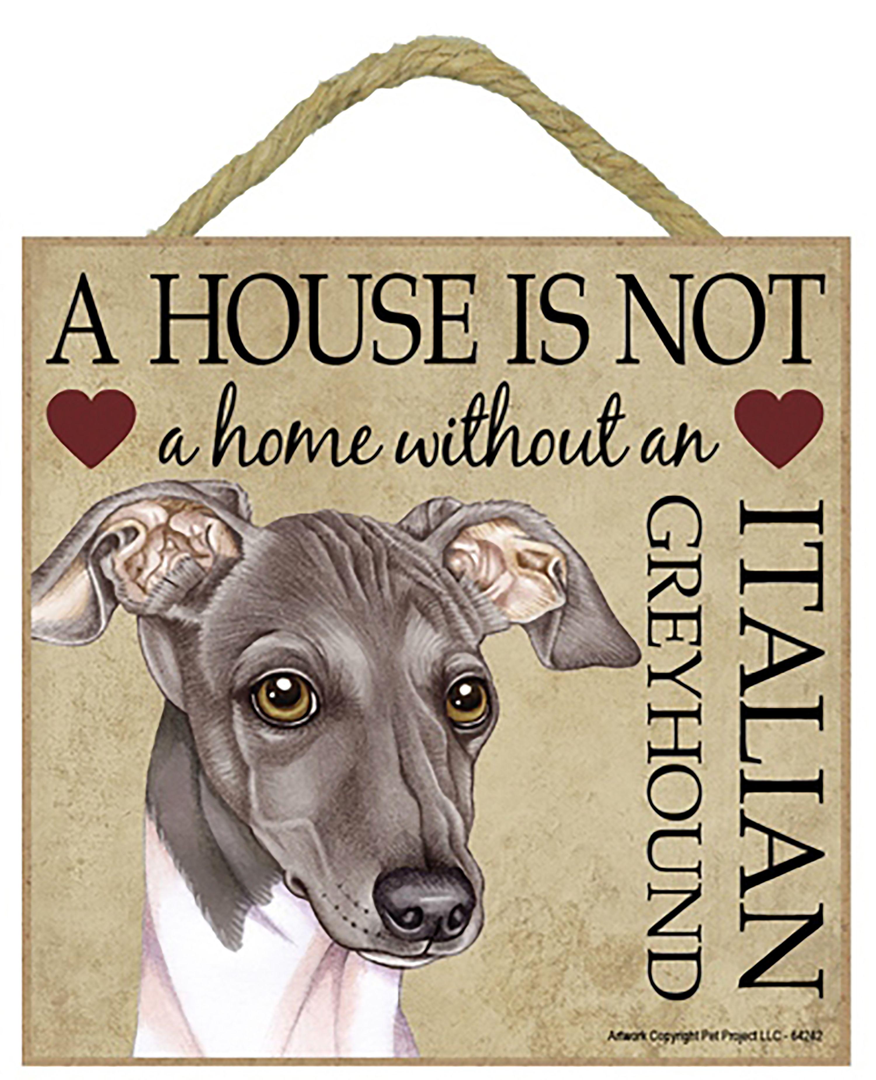 metal hanging sign decorative sign black Whippet Greyhound metal plaque