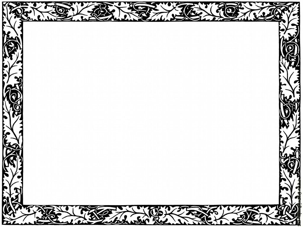 Fancy Borders Clip Art | Leafy Border from page 501 [image ...
