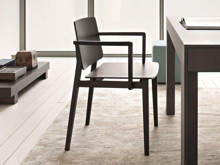 Sedie In Legno Con Braccioli : Sedia in legno con braccioli hati sedia lema sedie pinterest