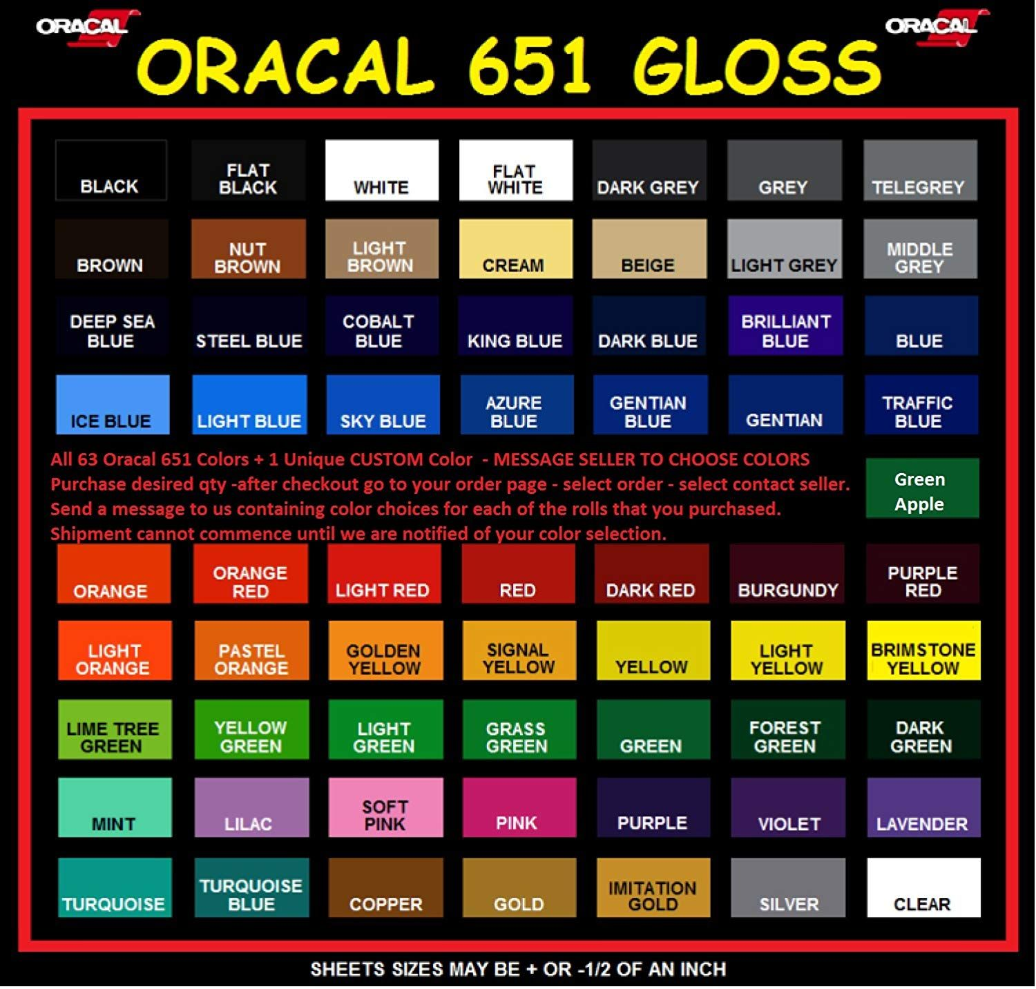 Oracal 651 Vinyl Rolls 5ft X 12 Choose From 64 Colors 64 All Colors You Can Find More Details By Visiting The Image Link This Oracal Vinyl Rolls Vinyl