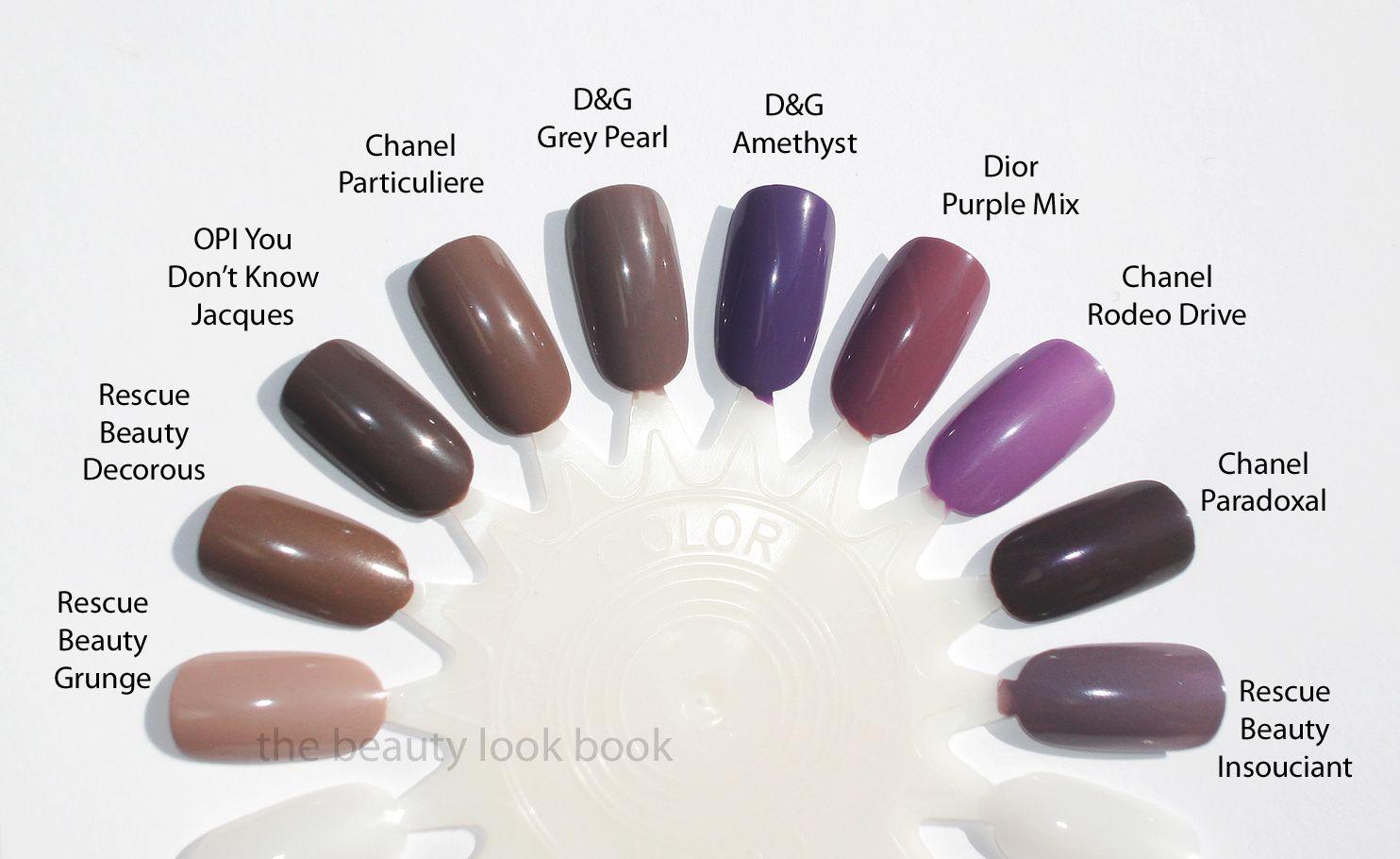 RBL, OPI, Chanel, D&G, Dior | Nail Polish | Pinterest