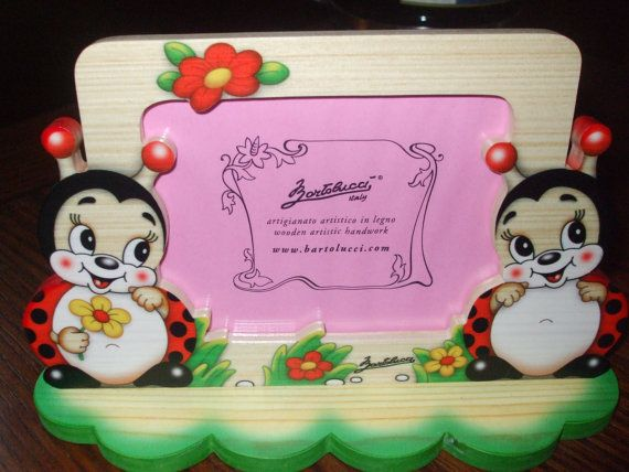 Handmade Wooden Cute Ladybug Picture Frame Signed By Paulie22 500