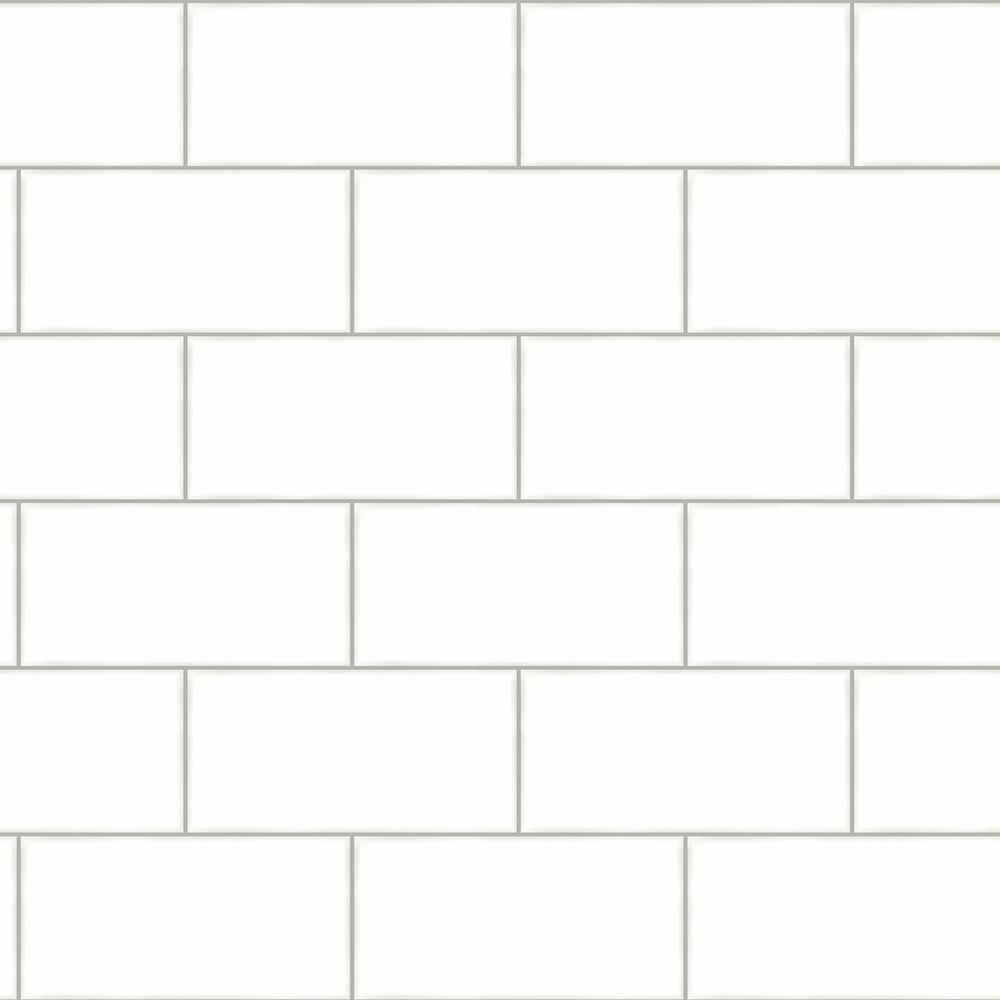 Chesapeake Freedom Off White Subway Tile Paper Strippable Roll Covers 56 4 Sq Ft 3115 12491 The Home Depot In 2021 Tile Wallpaper White Subway Tile White Subway Tiles