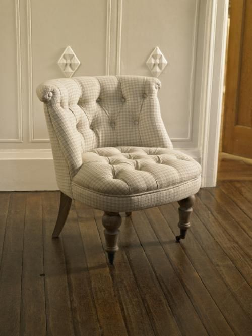 Checked Victorian Style Chair chesterfield #cathkidstondreamroom - Checked Victorian Style Chair Chesterfield #cathkidstondreamroom
