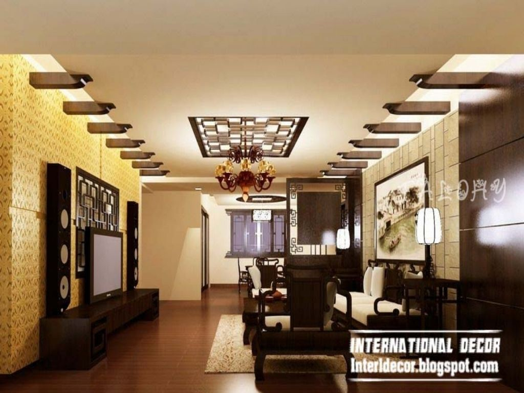 Image result for modern false ceiling living room false for Latest dining hall designs