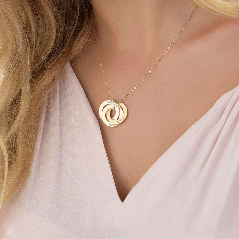 fcd22aa65 Russian Ring Necklace with Engraving - Gold Plated | Victor ...