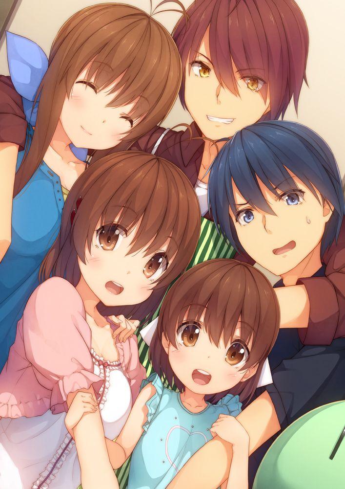 Clannad Sanae Furukawa Akio Furukawa Nagisa Furukawa Tomoyo Okazaki Ushio Okazaki Clannad Clannad Anime Anime