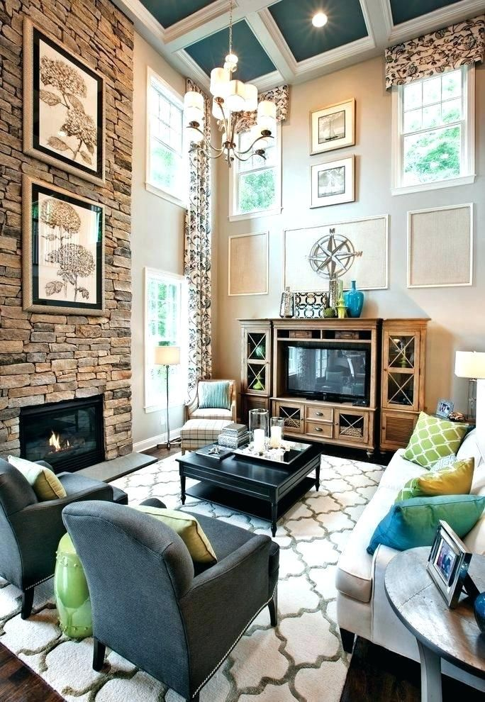 2 story family room two story family room entertainment ...