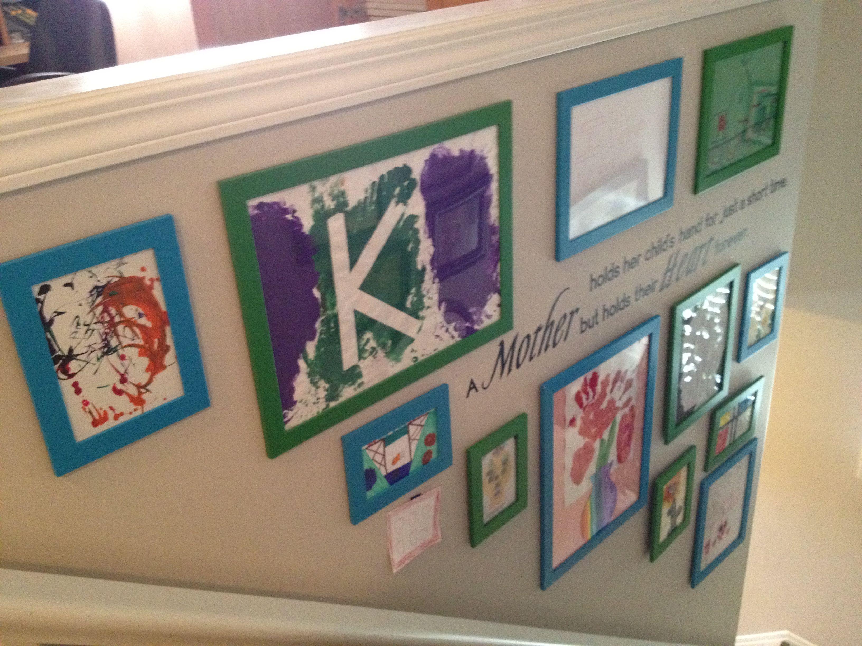 Use Ikea frames to display kids art   Kids   Pinterest