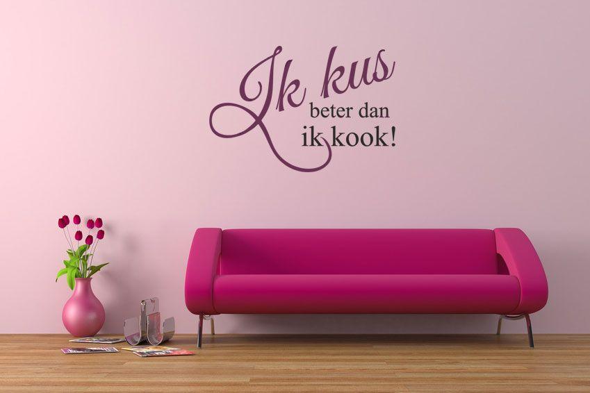 Leuke tekst op de muur bij voorbeeld in de slaapkamer! | Ideeën voor ...
