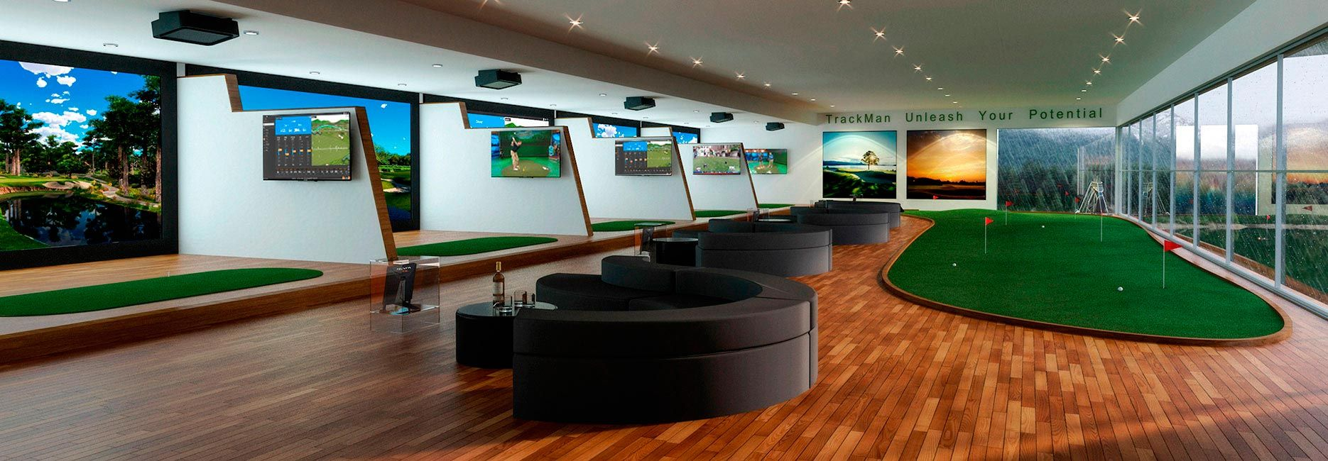 TrackMan Indoor Golf Simulator   Play, Practice And Teach 365 Days A Year