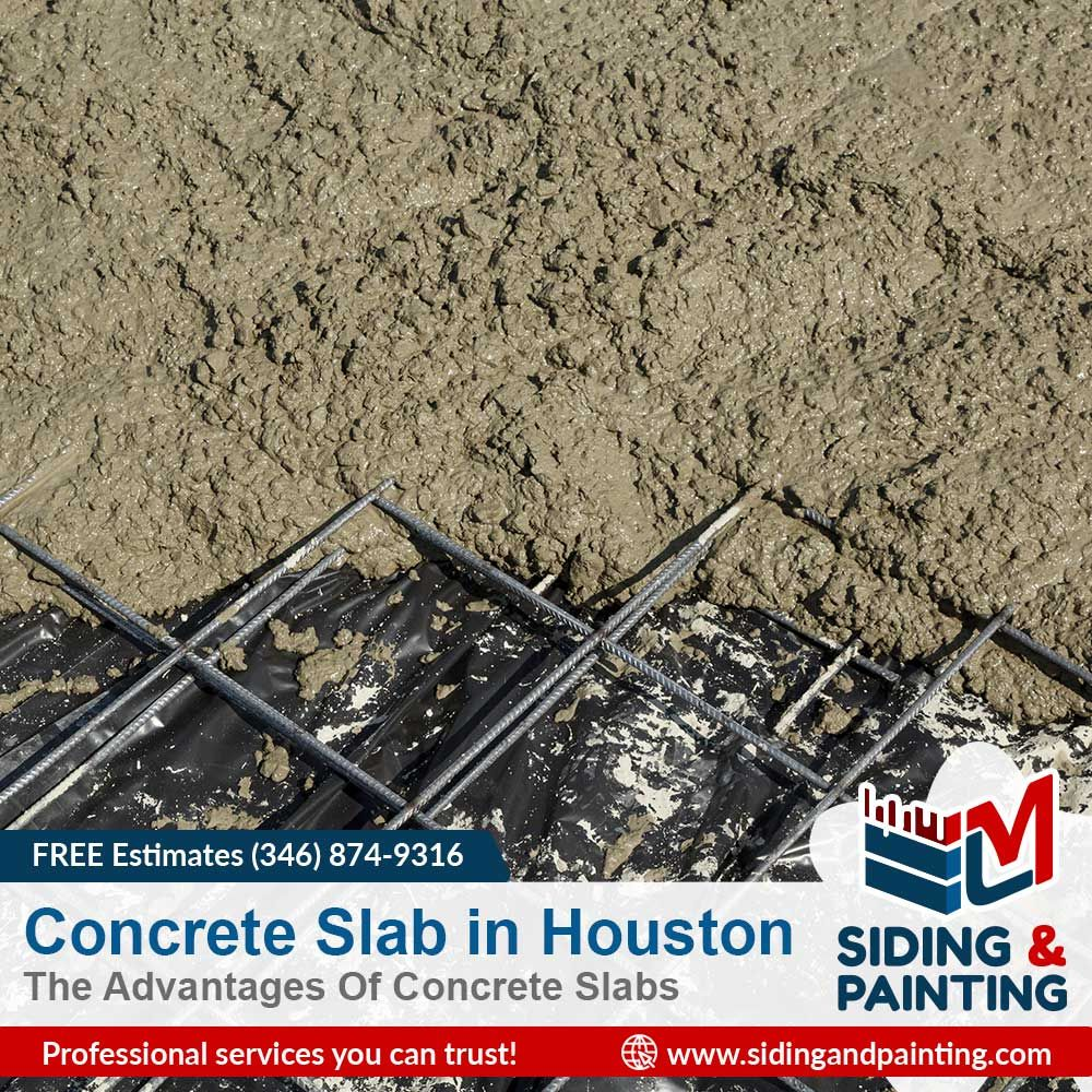 Houston concrete slab bitlrord siding u painting