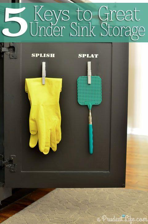 Under Kitchen Sink Organization Ideas That Add Storage Sinks and