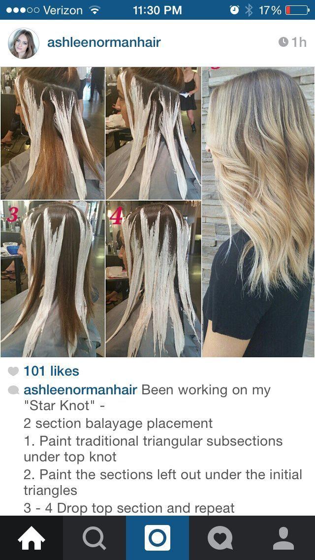 Balayage Hair Sectioning Google Search Balayage Pattern