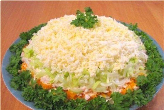 салат с курицей слоеный рецепт с фото