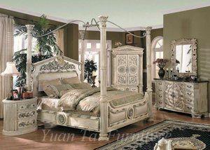 Roman Column Four Post Bed Bedroom Set Bedroom Furniture Sets