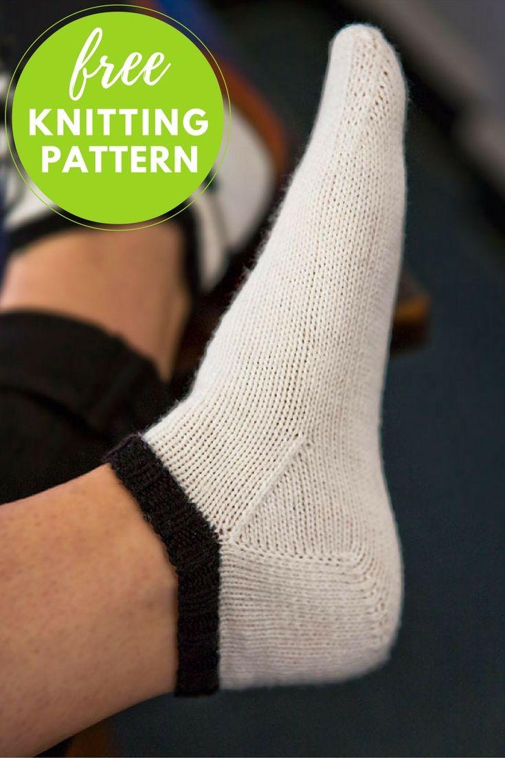 Knitting Pattern for Ladies Comfy Socks.