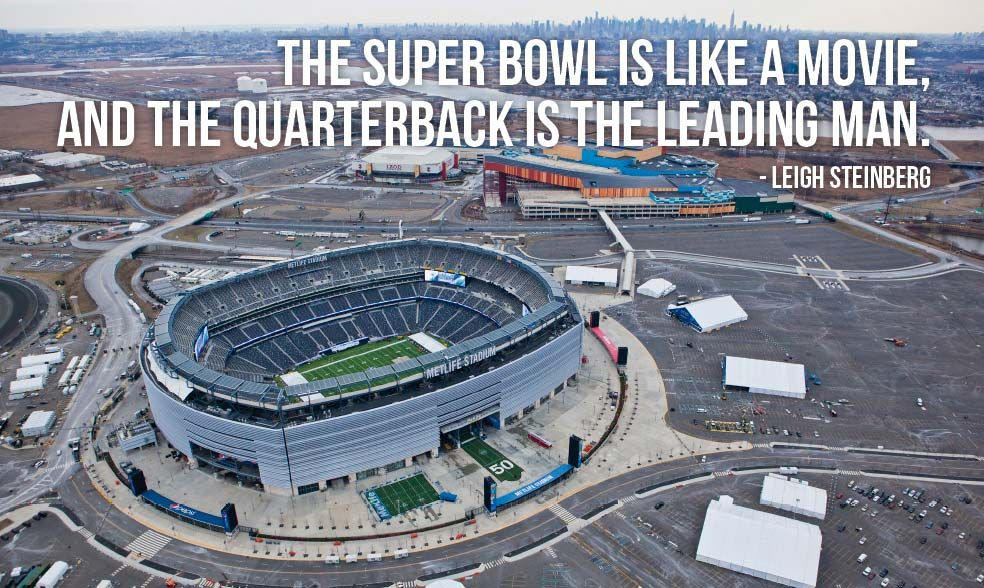 """""""The Super Bowl is like a movie, and the quarterback is"""