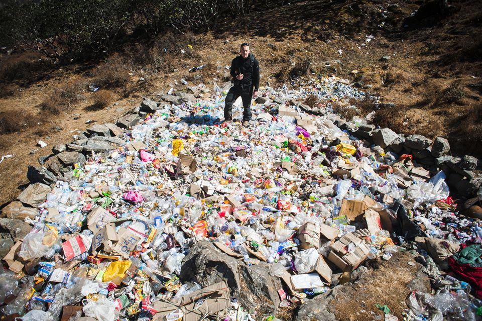 The thousands of visitors who arrive to scale Mount Everest every year leave an even greater amount of waste in their wake, damaging the fragile ecosystem.