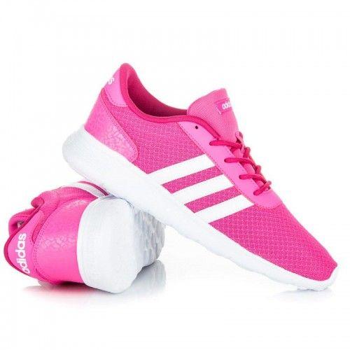 Dámské tenisky ADIDAS LITE RACER W růžové – růžová Růžové ADIDAS tenisky na  hrubé bílé podrážce 0d400811ed