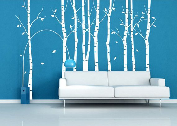 Birch Trees Decal Wall Decals Tree Wall Decal Nature By