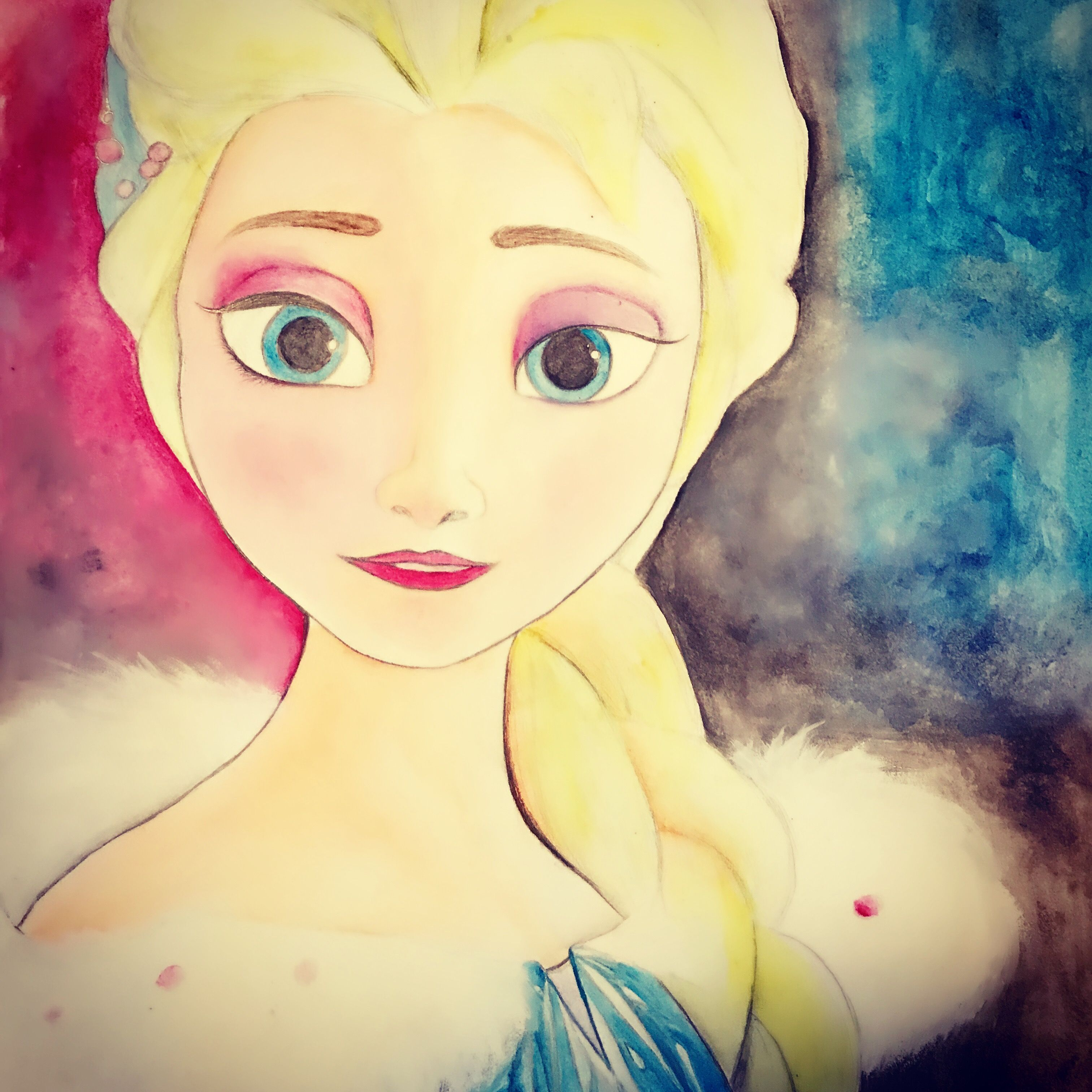 Elsa #Frozen #Disney #Olaf\'sFrozenAdventure #watercolor | My Art ...