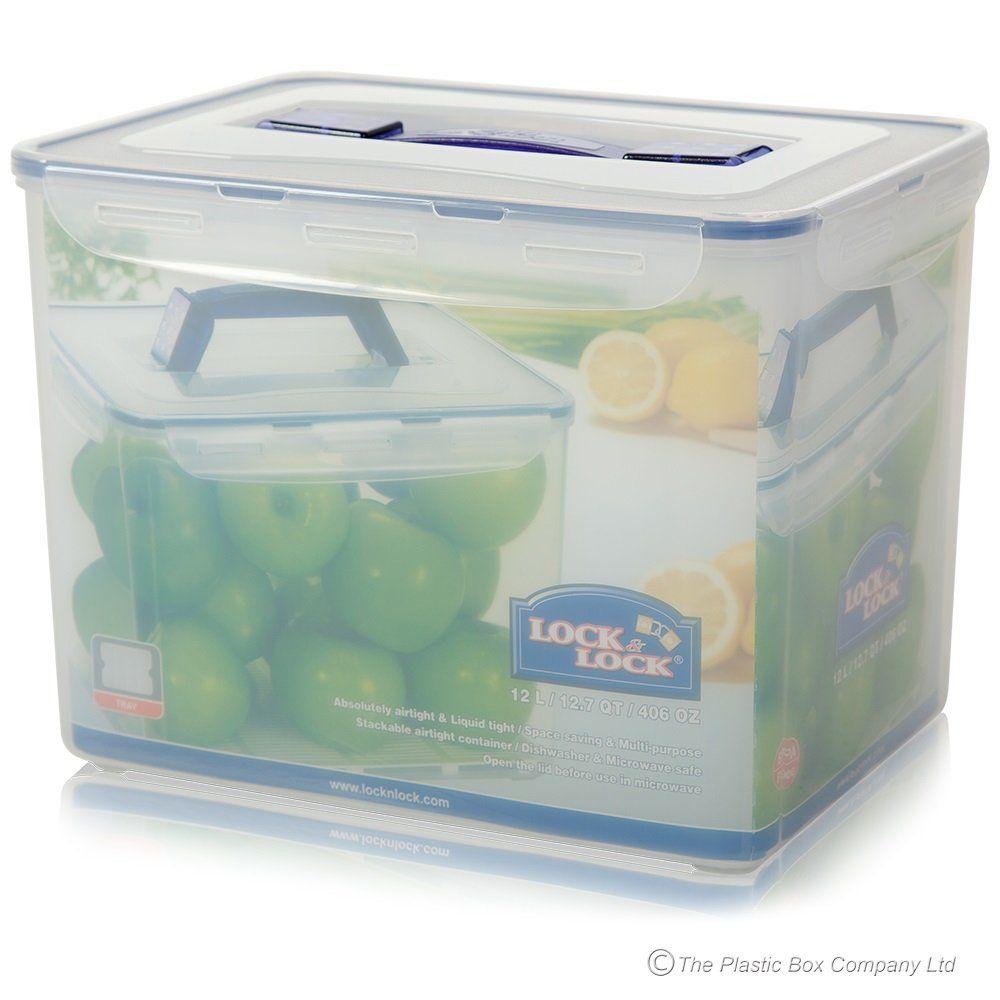 Buy 12 Litre Lock Lock Food Box Lock Lock Box With Handle Airtight Storage Plastic Box Storage Lock Lock