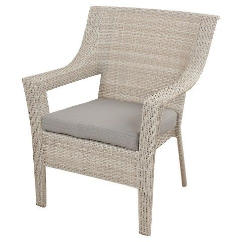 Threshold™ Southcrest Wicker Stacking Patio Club Chair Gray 28w X 27 X 35h  FOR PORCH