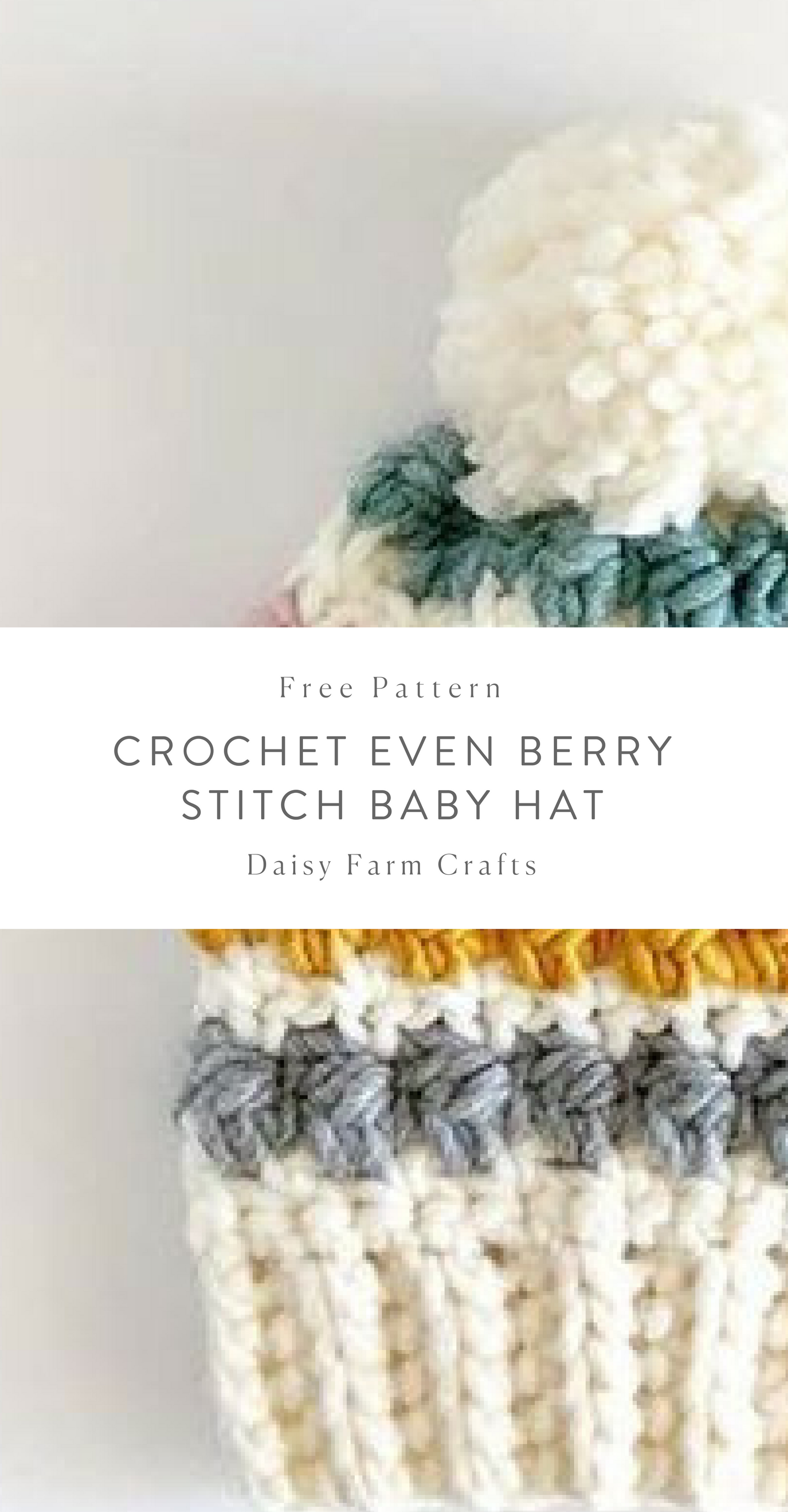 Free Pattern - Crochet Even Berry Stitch Baby Hat #crochet | Crochet ...