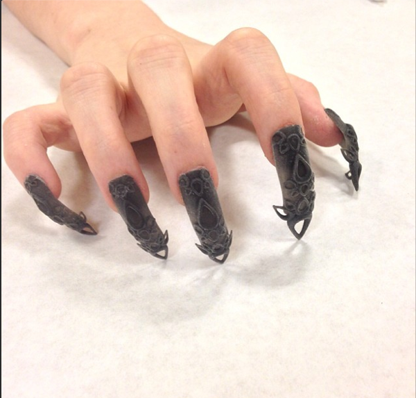 3d nails: jeweled   Nail Art Goes 3-D (and Beyond) - Yahoo Shine ...