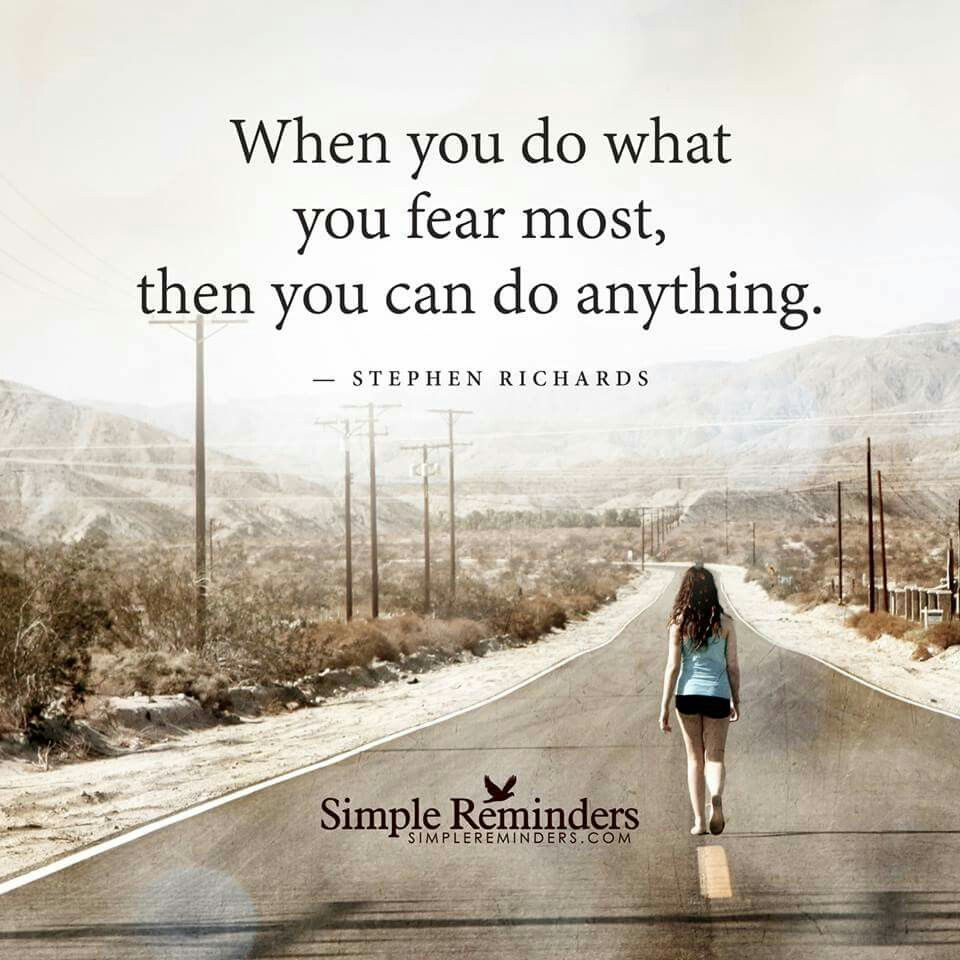 do what you fear most