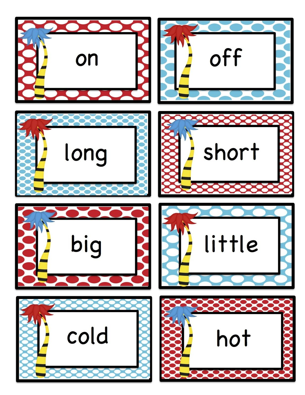 Preschool Printables Search Results For Opposites