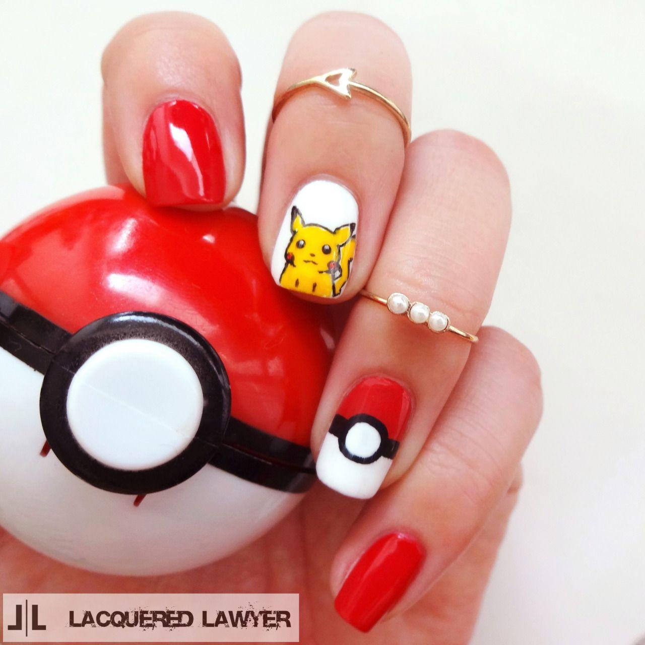 Pokémon Nails Uña En 2019 Uñas De Gel Diseños De Uñas Y