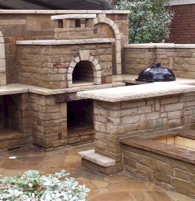 Brick Grills And Outdoor Countertops Building Your: Enclosed DIY Wood-Fired Outdoor Brick Pizza Oven With