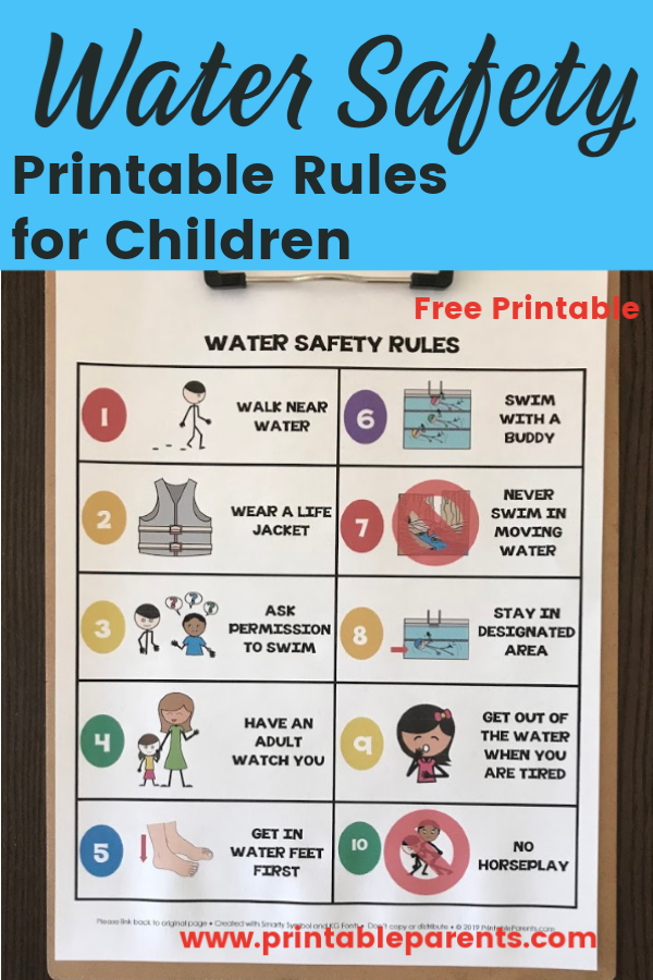Water Safety for Kids | Safety rules for kids, Water ...