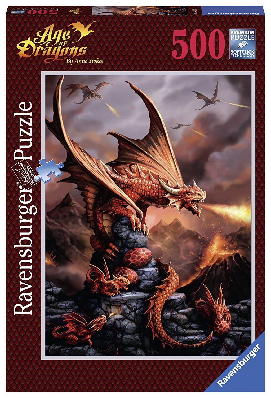 DRAGONS Wizard Magic New Puzzle 750 Piece Unopened Fantasy DRAGONES