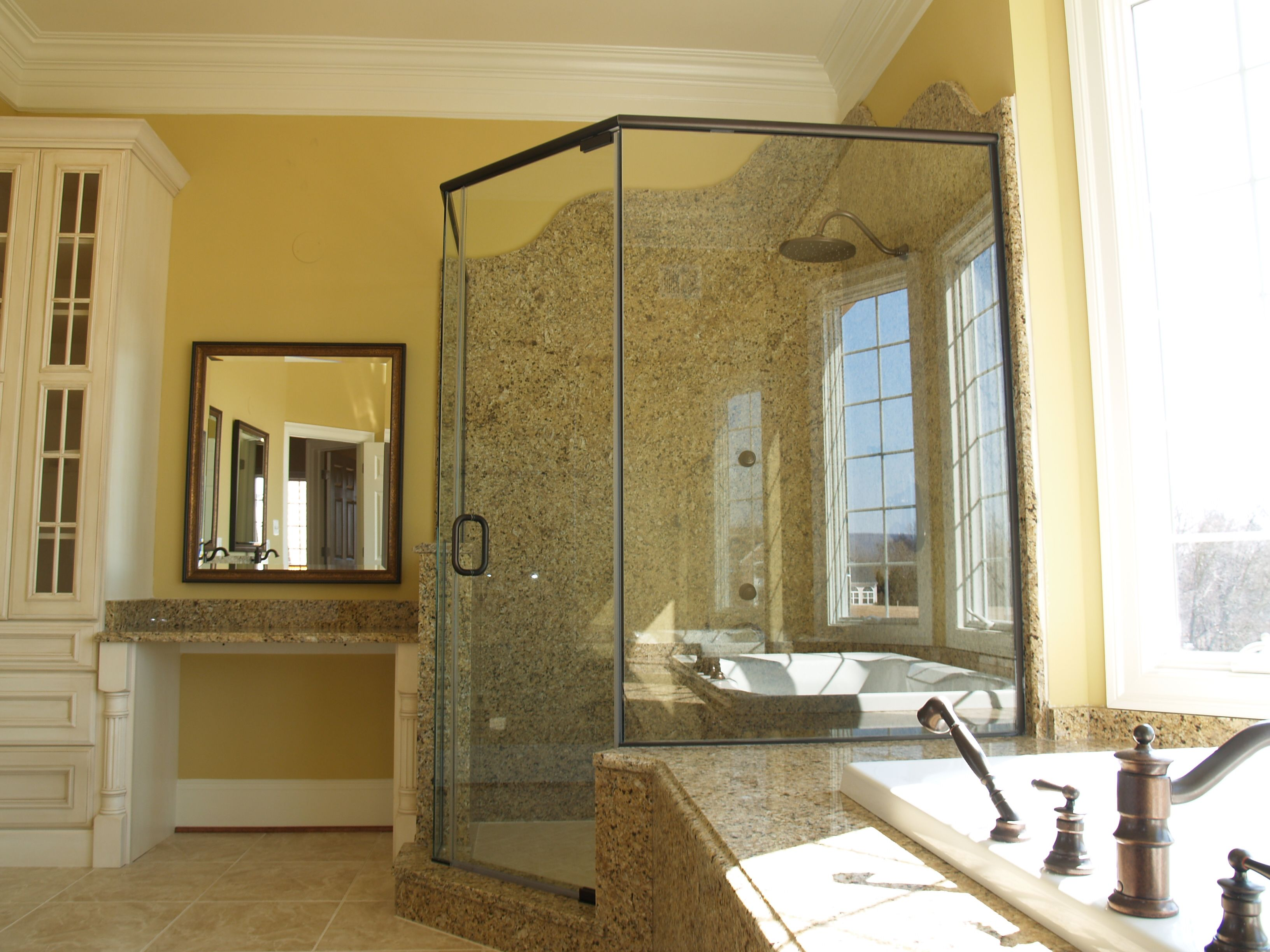 Neo Angle Shower In Oil Rubbed Bronze And 3 8 Thick Clear Glass