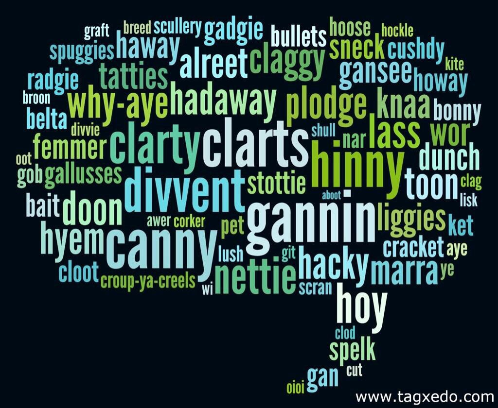 Geordie Words Most Of Which Have Their Origins In Our Viking