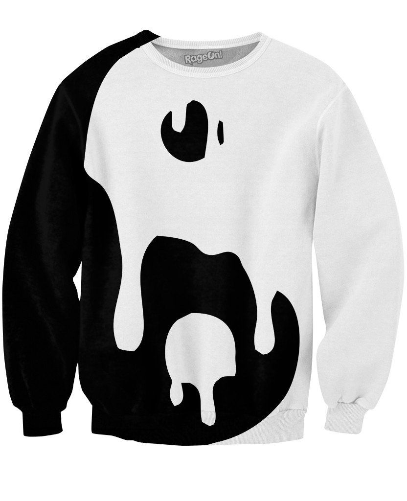 RageOn Buddha Pop Colorful Big Drippy Yin Yang Crewneck Premium All Over Print Sweatshirt