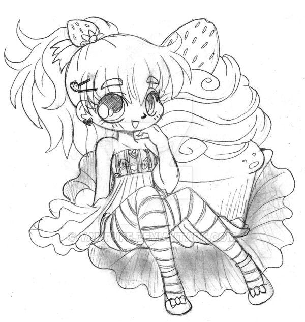 Strawberry Shortcake Chibi Cupcake by YamPuff on ...