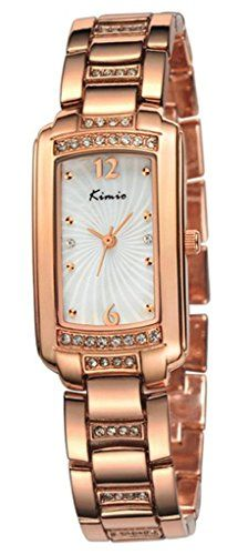 Tidoo Luxury Bracelet Watches in Rose Gold with High Quality Japaneses Movement Staintless Steel Retangle Wristwatch for Office Ladies