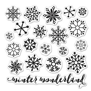 Hero Arts Clear Stamp Set - Snowflakes by Lia