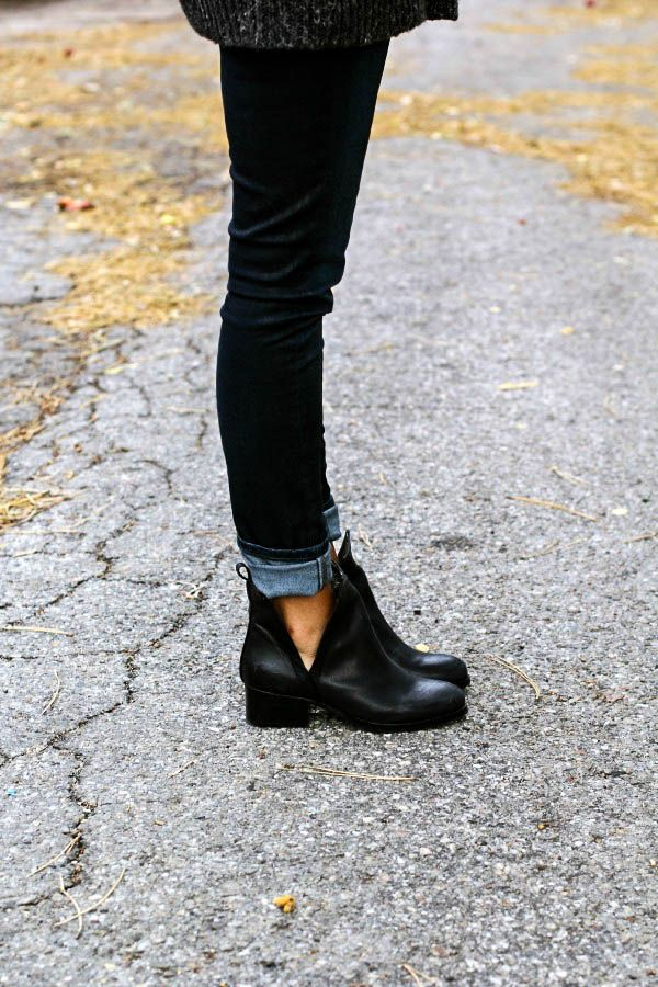 Black boots · Jeffrey Campbell Oriley Cutout Ankle Boot