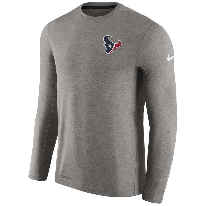 35eadc92 Houston Texans Nike Sideline Coaches Long Sleeve Performance T-Shirt ...
