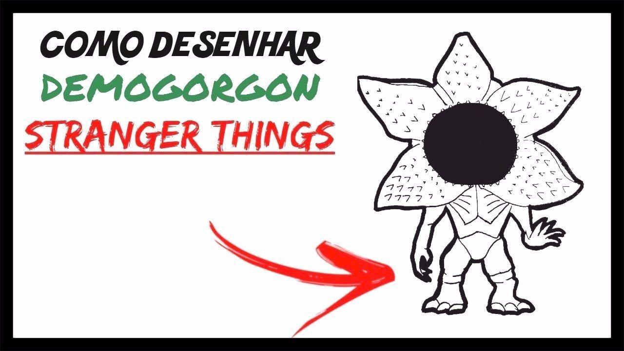 como desenhar o demogorgon chibi stranger things meu canal