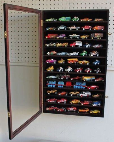 Hot Wheels 1:64 Matchbox Car Display Case Cabinet Wall