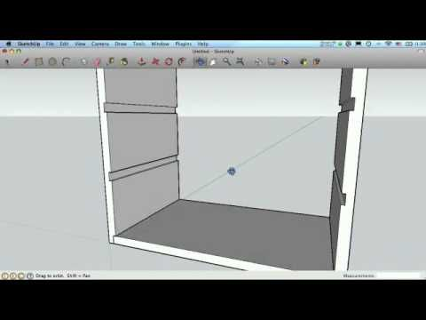 Sketchup For Woodworkers Dados Rabbets And Grooves Youtube